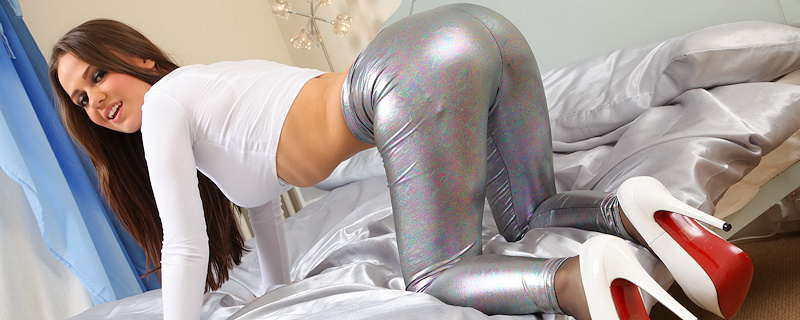 Emma Kuziara in silver leggings