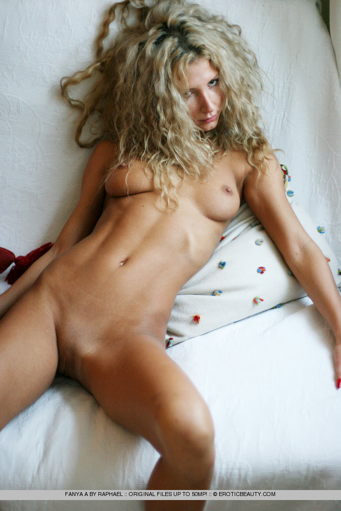 Blonde uncut POV belly