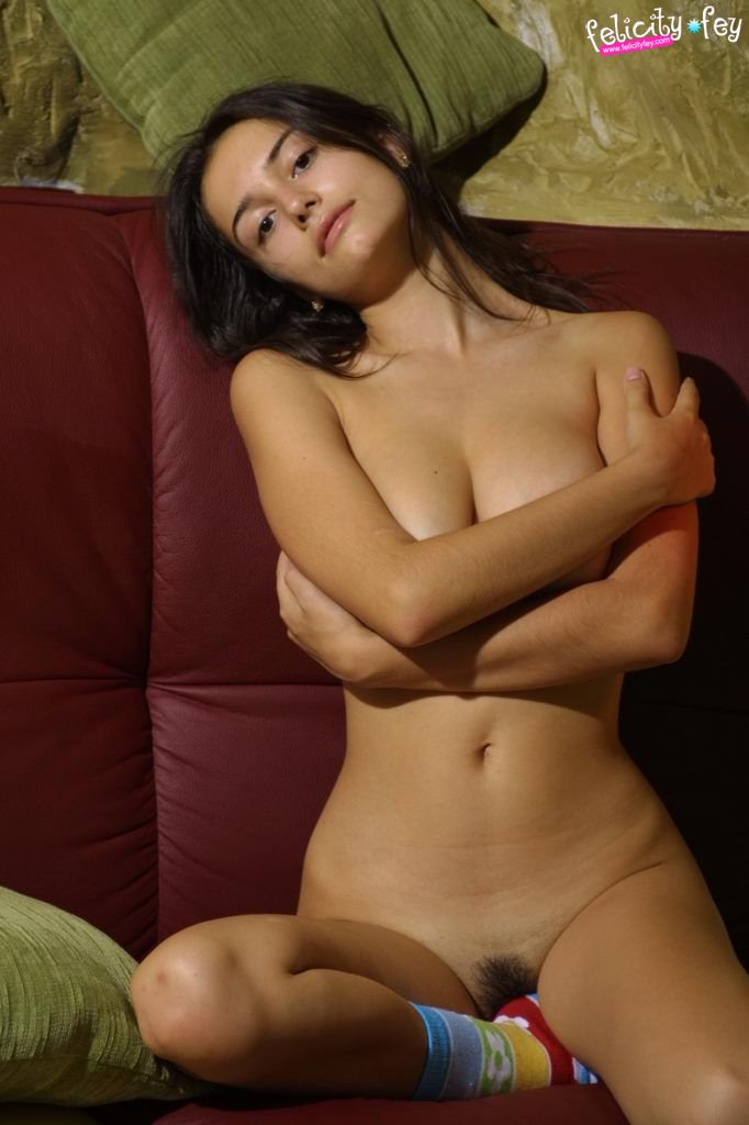 felicity-fey-boobs-colorful-socks-nude-15