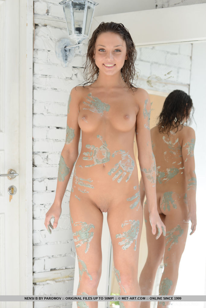 Selfshot Nude In Mud