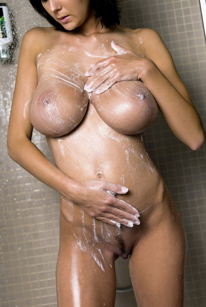 Gabrielle boobs shower