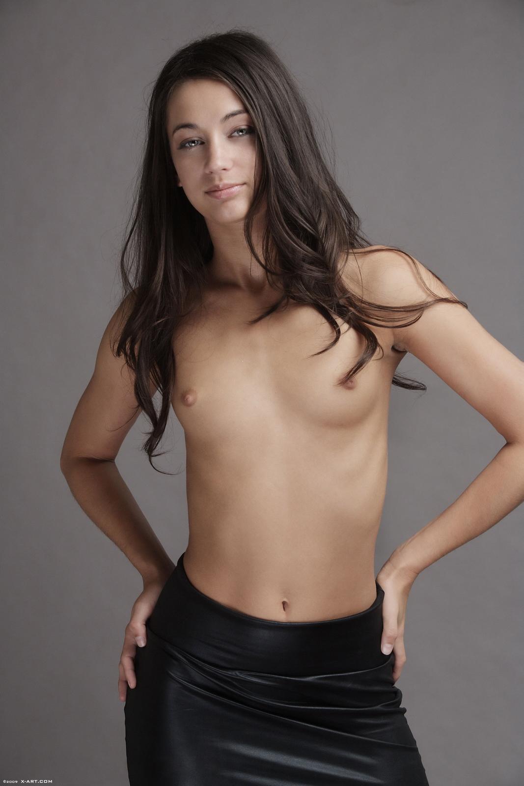 georgia-jones-black-mini-skirt-naked-xart-06