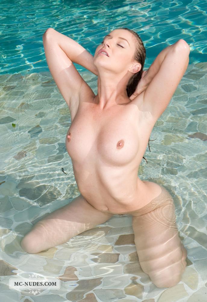 pool posing at Naked girls