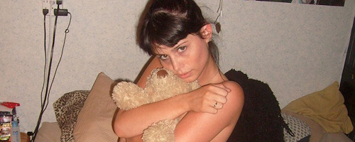 Hailey and her teddy bear
