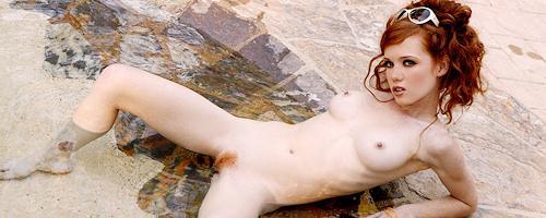 Heather Carolin by the pool