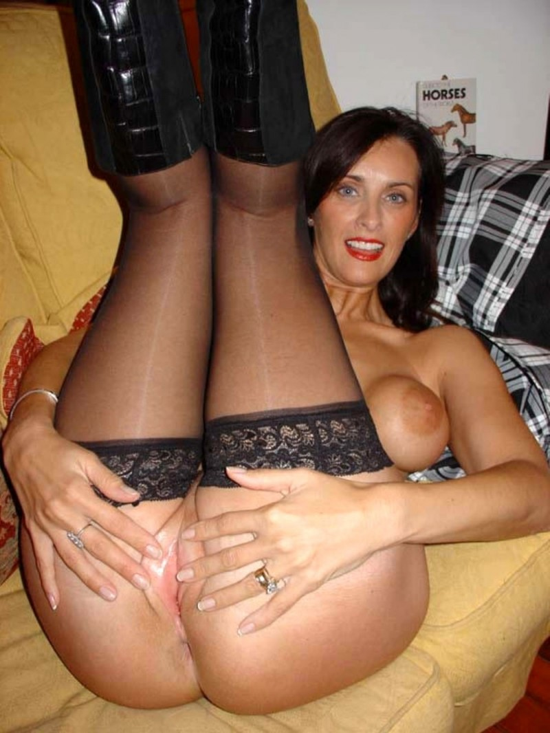 stockings Hot mom amateur wife milf