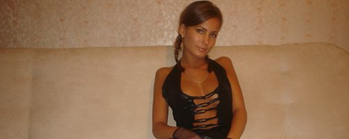 Hot tanned wife in stockings