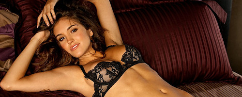 Jaclyn Swedberg in black lingerie