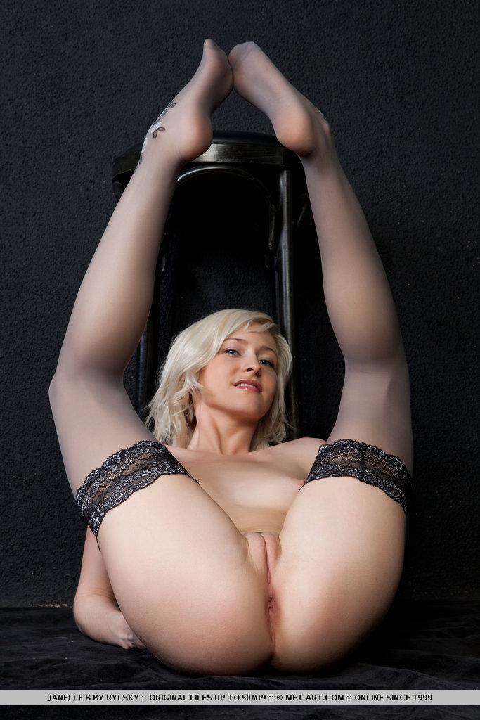 Janelle b blonde naked stockings metart 08 RedBust