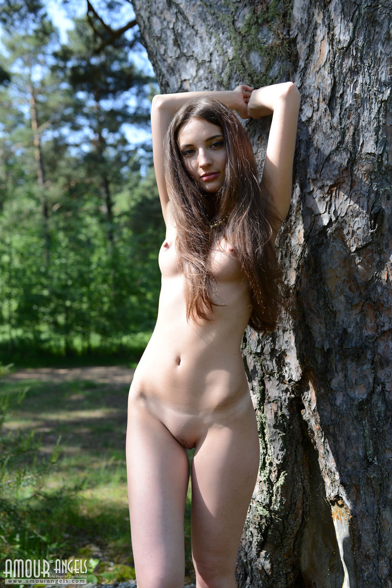 Masterbate nude the woods in girls