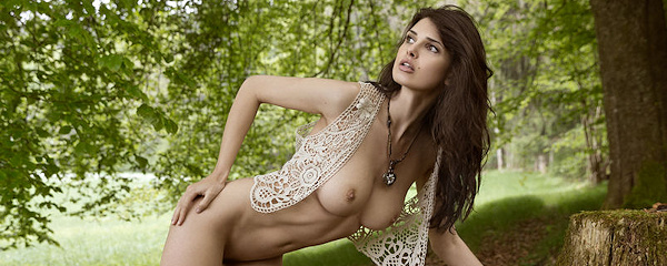 Jasmine Andreas in the woods