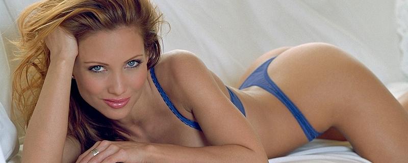 Jennifer Korbin in blue lingerie