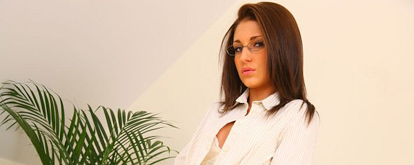 Jenny Laird – Secretary wearing glasses