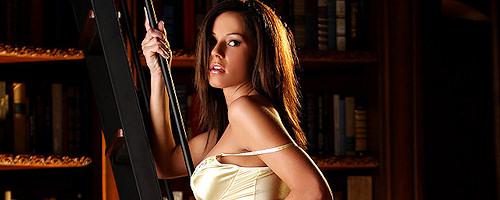 Jessica DeCarlo in library