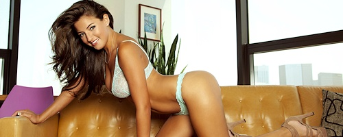 Jessica Workman on the couch