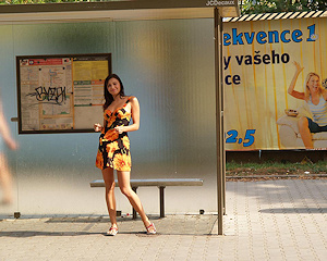 jirina-k-nude-girl-on-bus-stop-public
