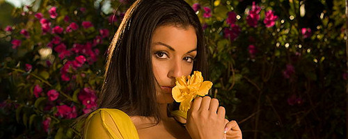 Jo Garcia in yellow blouse