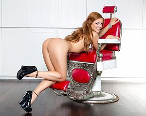 josee-lanue-redhead-barbers-chair-playboy