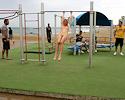 judita-naked-barcelona-public-gym