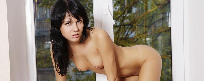 Julia B nude on the windowsill