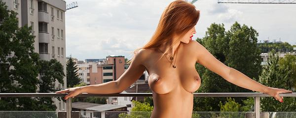 Justyna on balcony