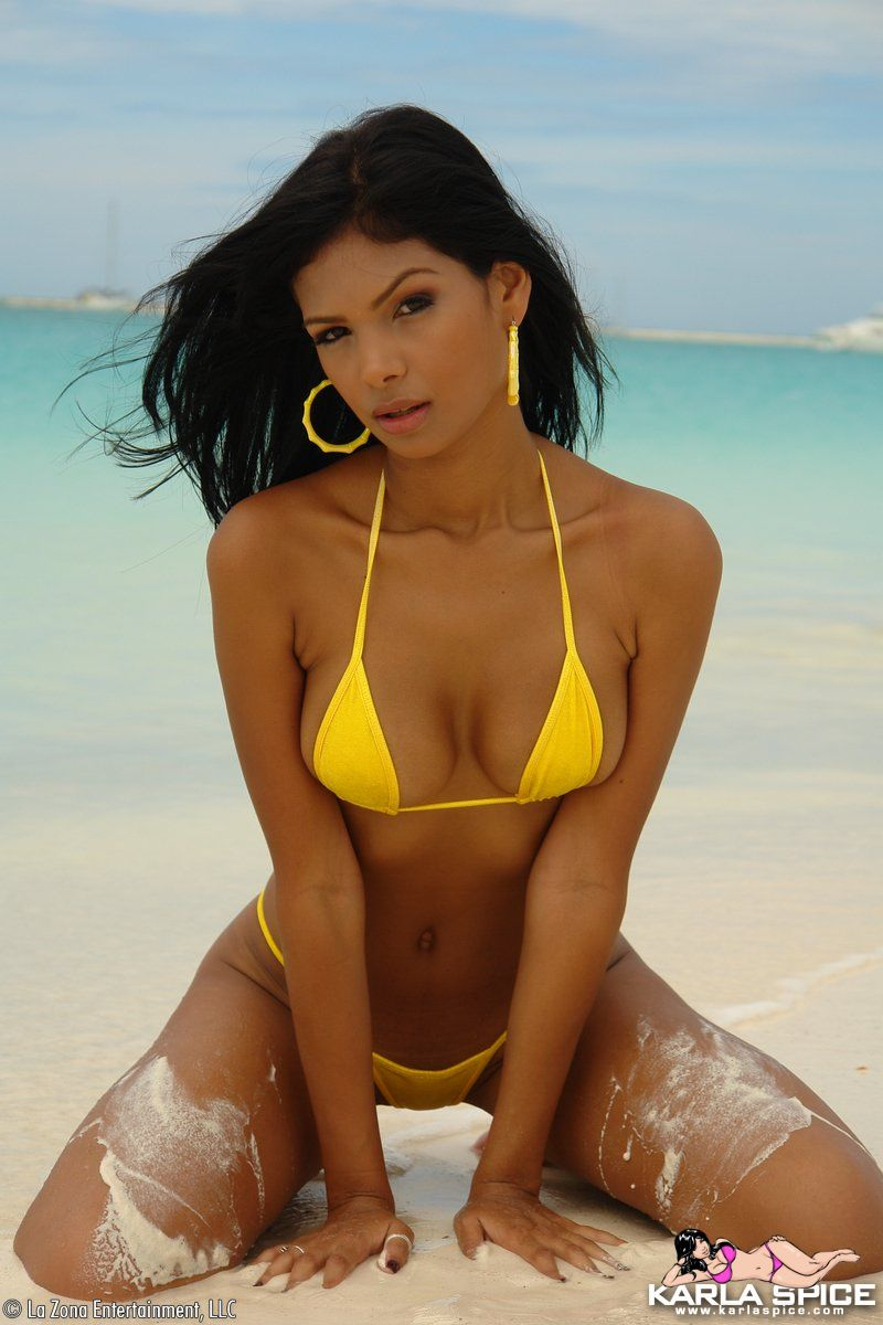 karla-spice-yellow-bikini-22
