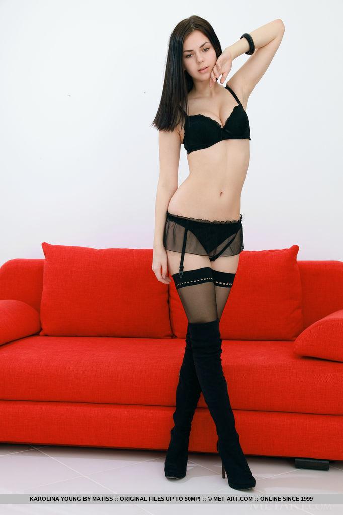 karolina-young-nude-stockings-red-sofa-metart-07
