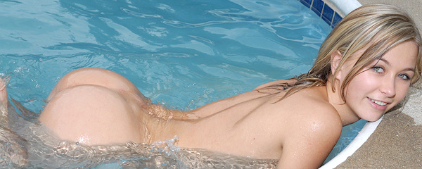 Kasia in the swimming pool