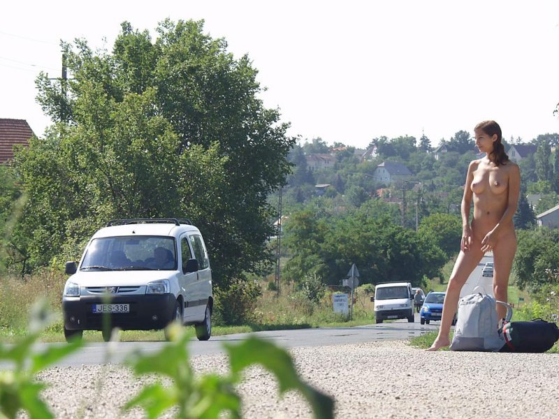 katerina-nude-on-road-hitch-hiking-12