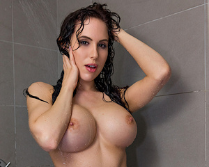 katie-banks-shower-red-bikini-nude