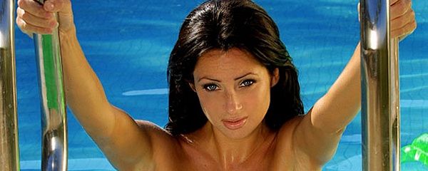 Katie Lawrie in the pool