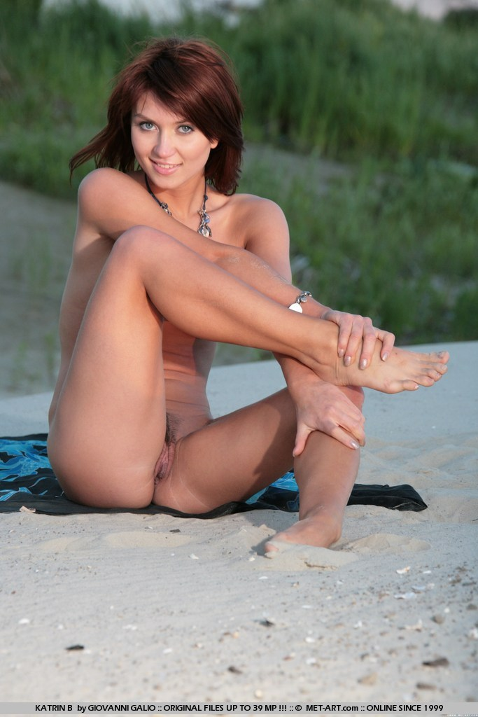 katrin-b-beach-by-lake-naked-metart-07