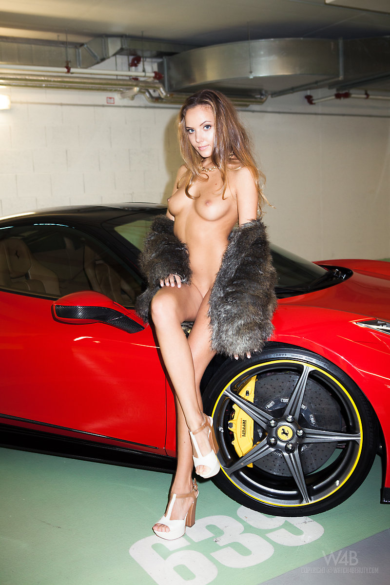 naked girlwith fast car