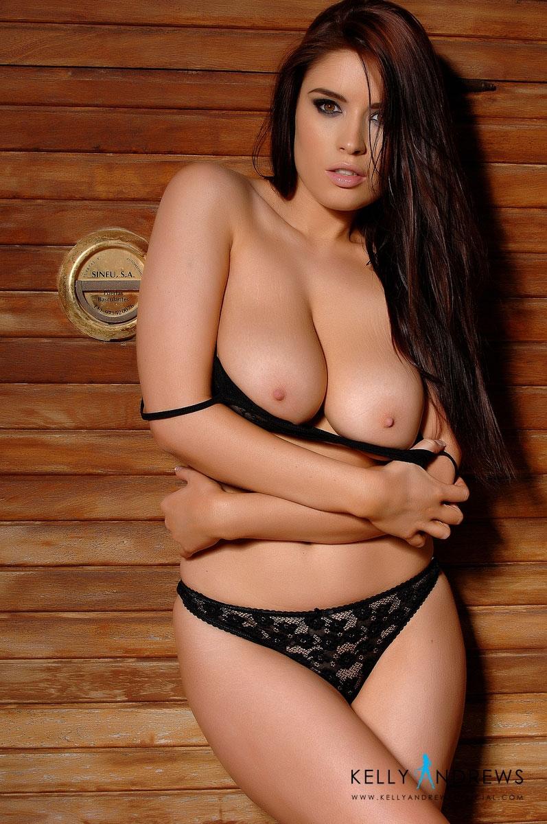 kelly-andrews-black-lingerie-topless-08