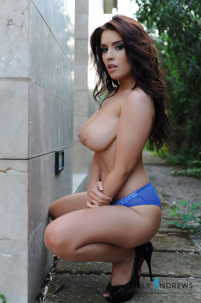 kelly-andrews-blue-lingerie-topless-10