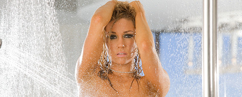 Kelly Carrington in the shower