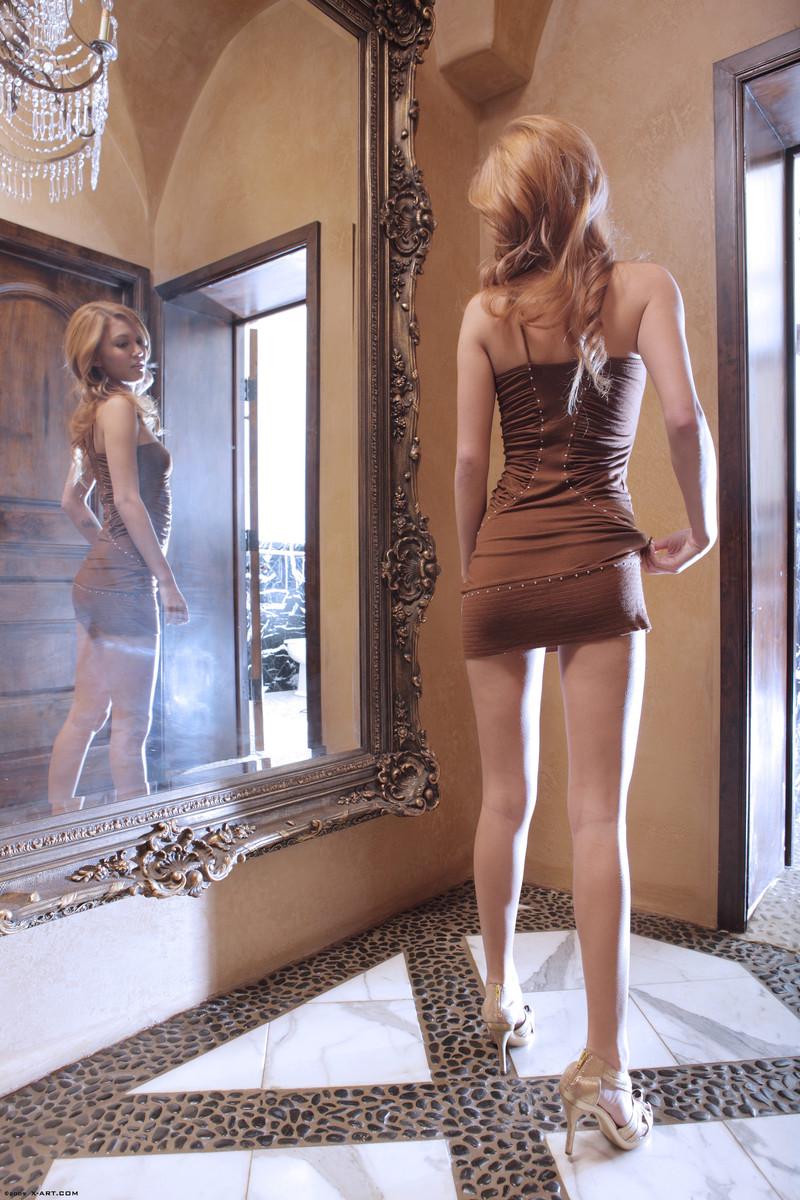 kato-naked-brown-dress-mirror-skinny-x-art-01