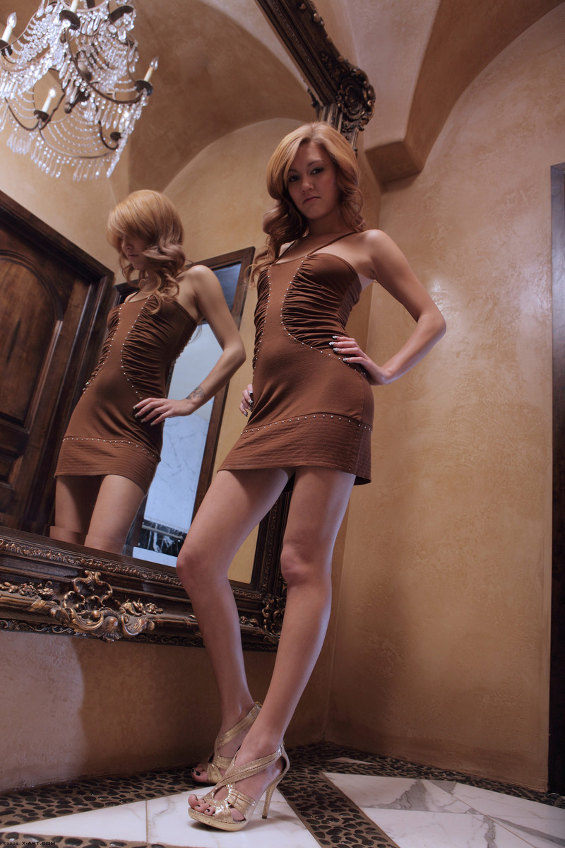 kato-naked-brown-dress-mirror-skinny-x-art-02