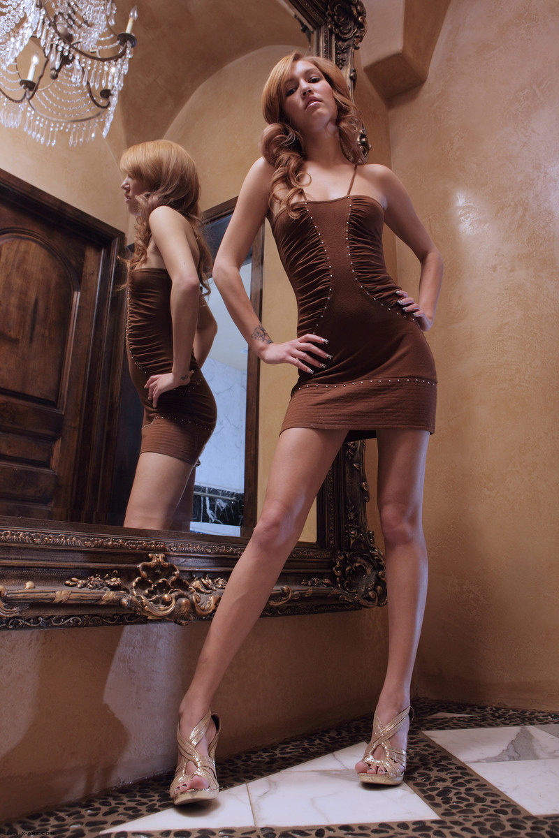 kato-naked-brown-dress-mirror-skinny-x-art-03