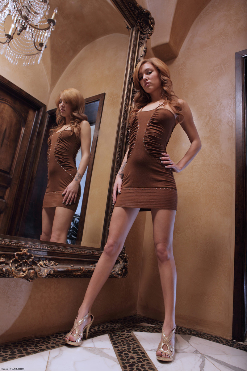 kato-naked-brown-dress-mirror-skinny-x-art-04