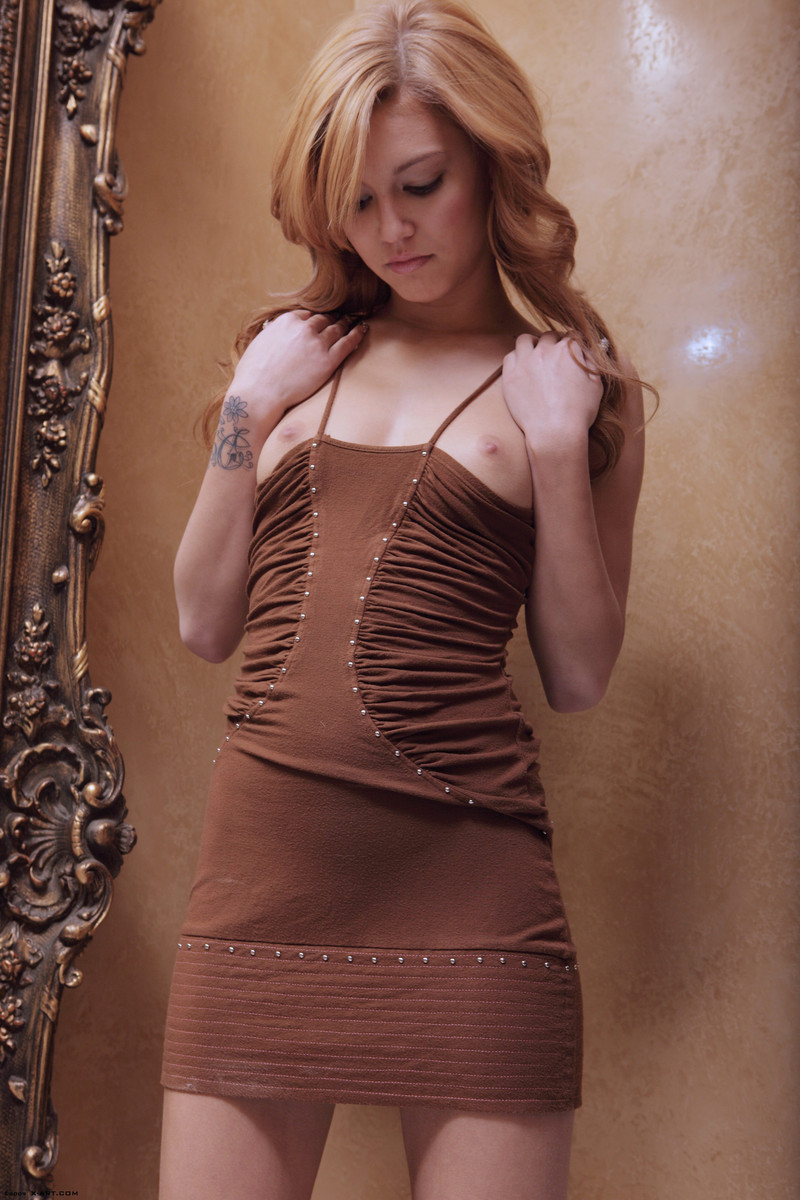 kato-naked-brown-dress-mirror-skinny-x-art-05