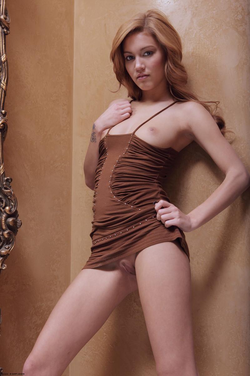 kato-naked-brown-dress-mirror-skinny-x-art-09
