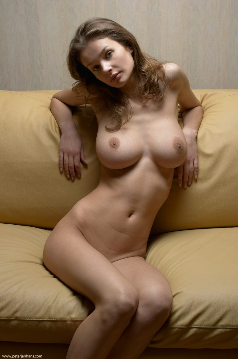 Hot naked women on sofa #8