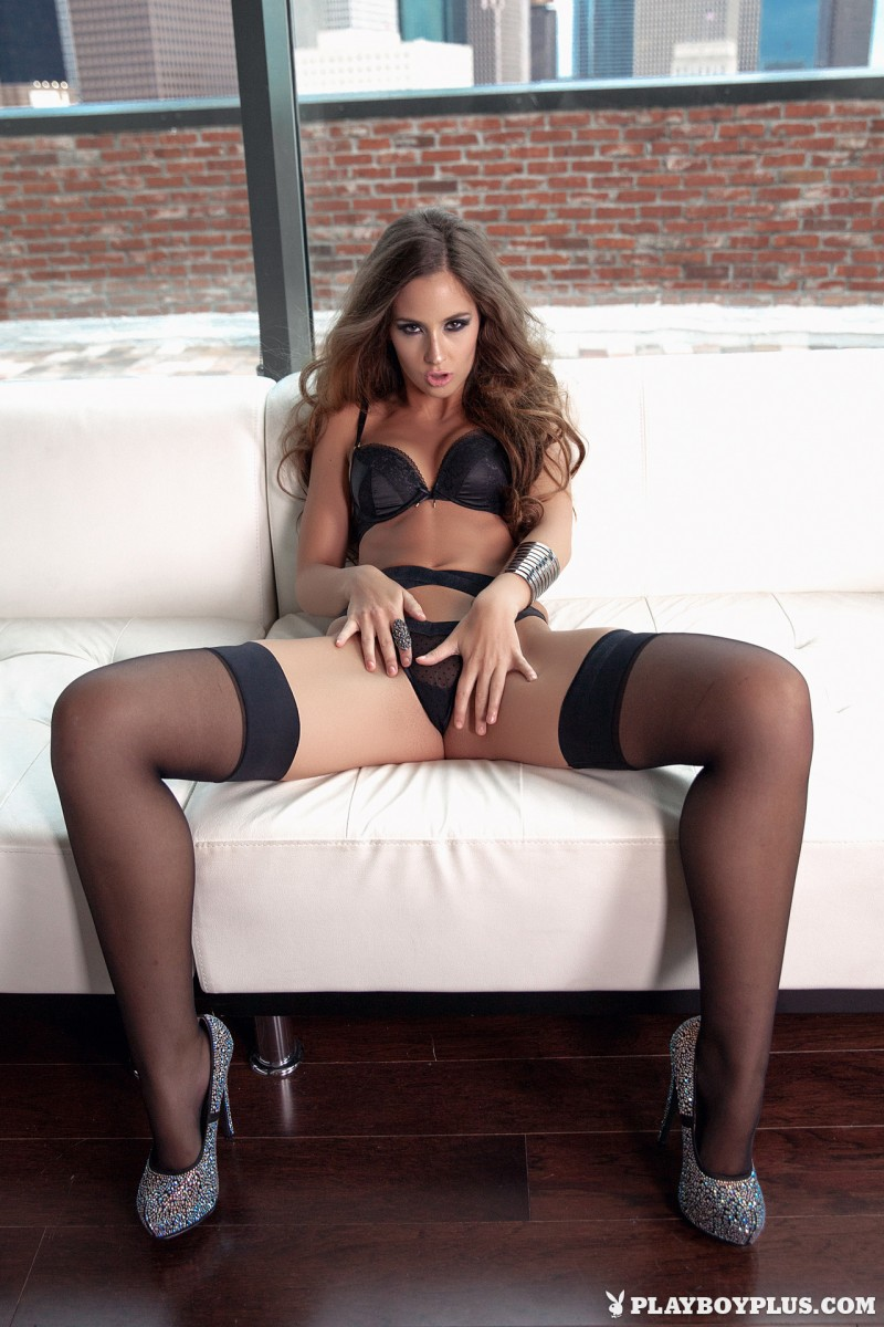 kylie-cupcake-morgan-stockings-high-heels-playboy-11