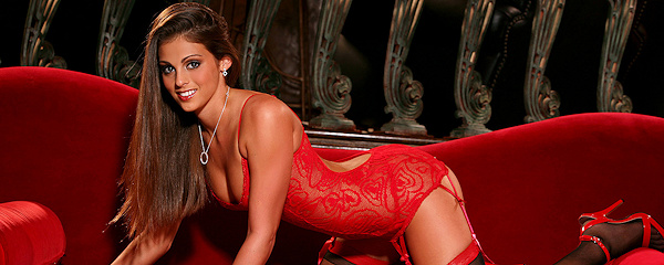 Lacey Alexandra – Red lingerie & stockings