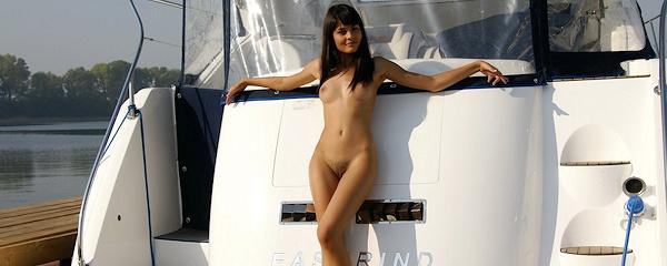 Landysh on the boat
