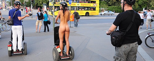 Lauren nude on segway