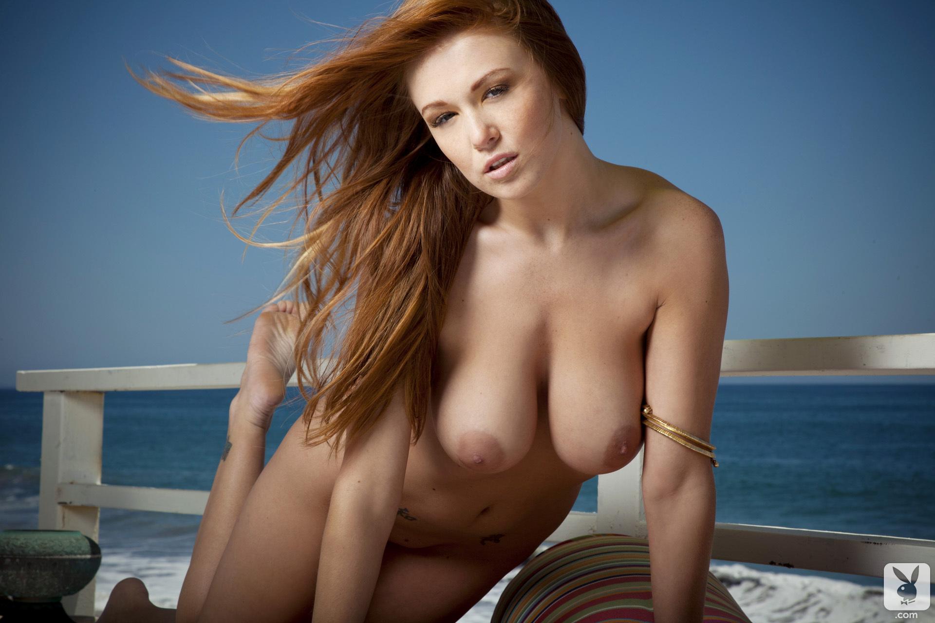 leanna-decker-bikini-boobs-redhead-seaside-playboy-22
