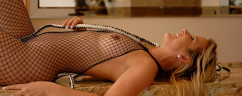 Lia Leah in bodystocking