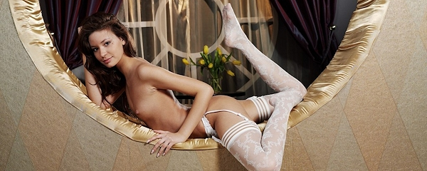 Lidija in white stockings